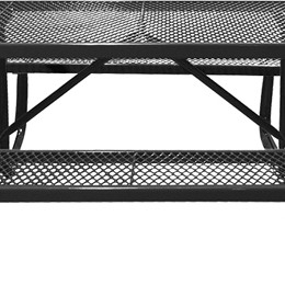 166_1018 Black Rectangular Expanded Metal Picnic Table