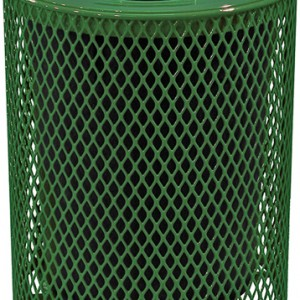 166_1327 Green  32 Gal Expanded Metal Receptacle